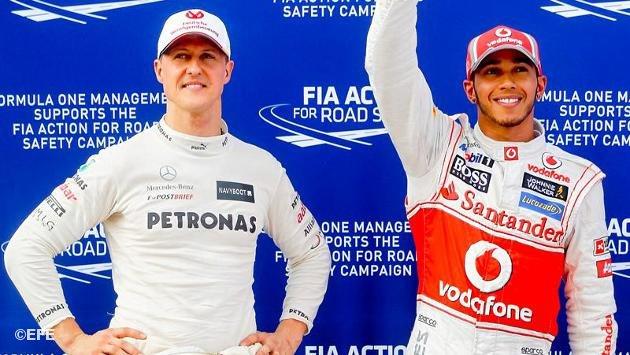 Schumacher se va y Hamilton llega a Mercedes para 2013.