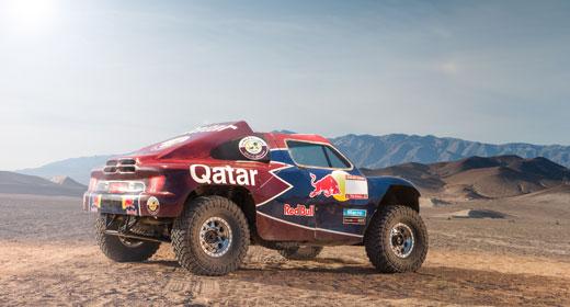 Probando en Marruecos. El buggy V8 se mostró competitivo y confiable.