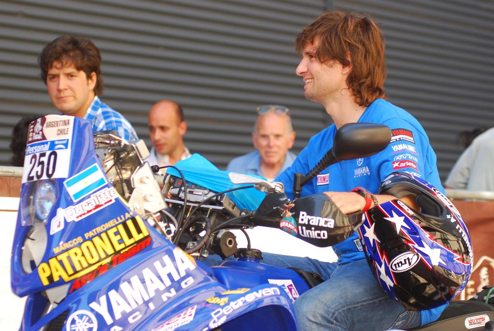 """Marcos y su Yamaha Raptor 700, casi una postal del Dakar """"sudamericano"""", que lo tiene como rey indiscutido."""
