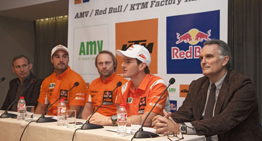 En la conferencia de KTM celebrada hoy, tiene la palabra el mismísimo Marc Coma...
