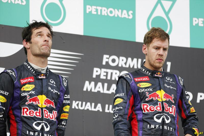 El de Malasia fue uno de los podios más tensos de la historia...