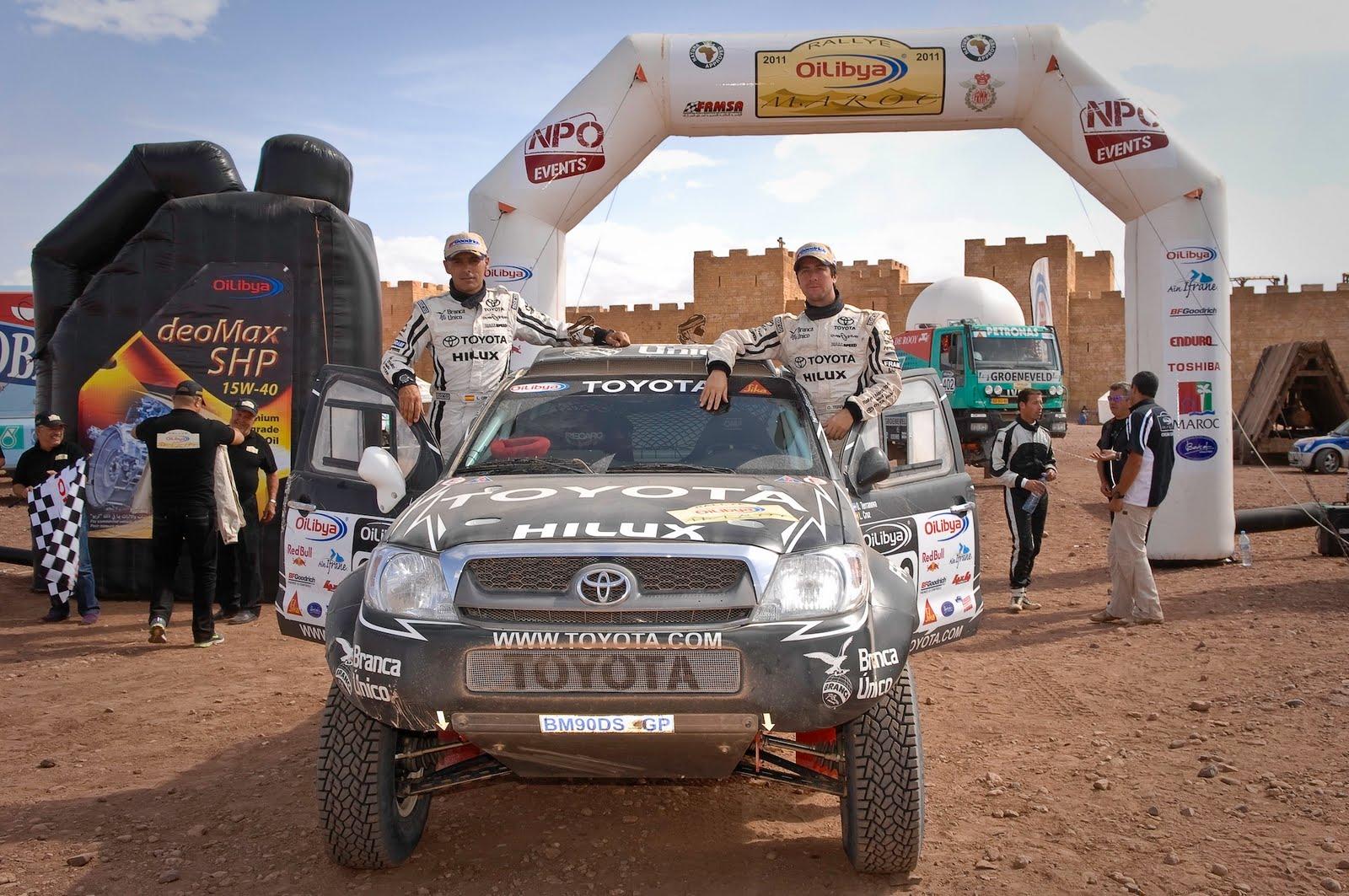 Orly Terranova en Marruecos 2011 donde tuvo destacada labor con la Toyota Hilux de Overdrive.