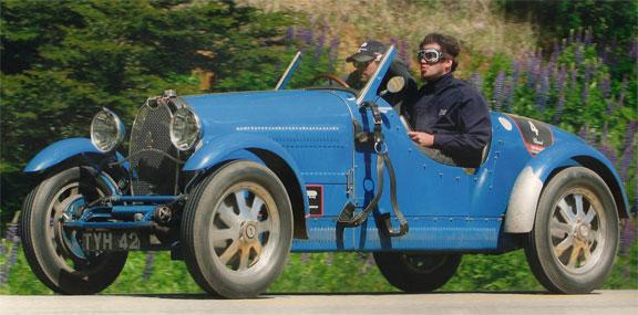 La Bugatti Type 40 de 1927 de Tonconogy-Berisso, vehículo coronado con la pareja argentina.