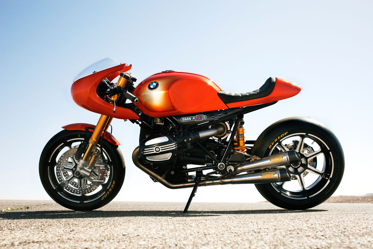 Silueta atractiva para un concepto que revive una de las motos más icónicas de BMW, la R90 S.