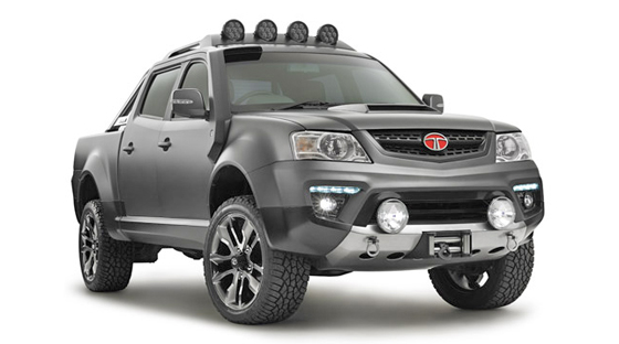 Llamativa y bien plantada, la Tata Tuff Truck prototipo, fue bien recibida en su contacto inicial en Australia.