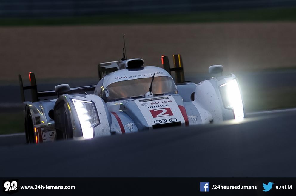 El Audi nº2 rumbo a la victoria. La más importante en la campaña de Loïc Duval.