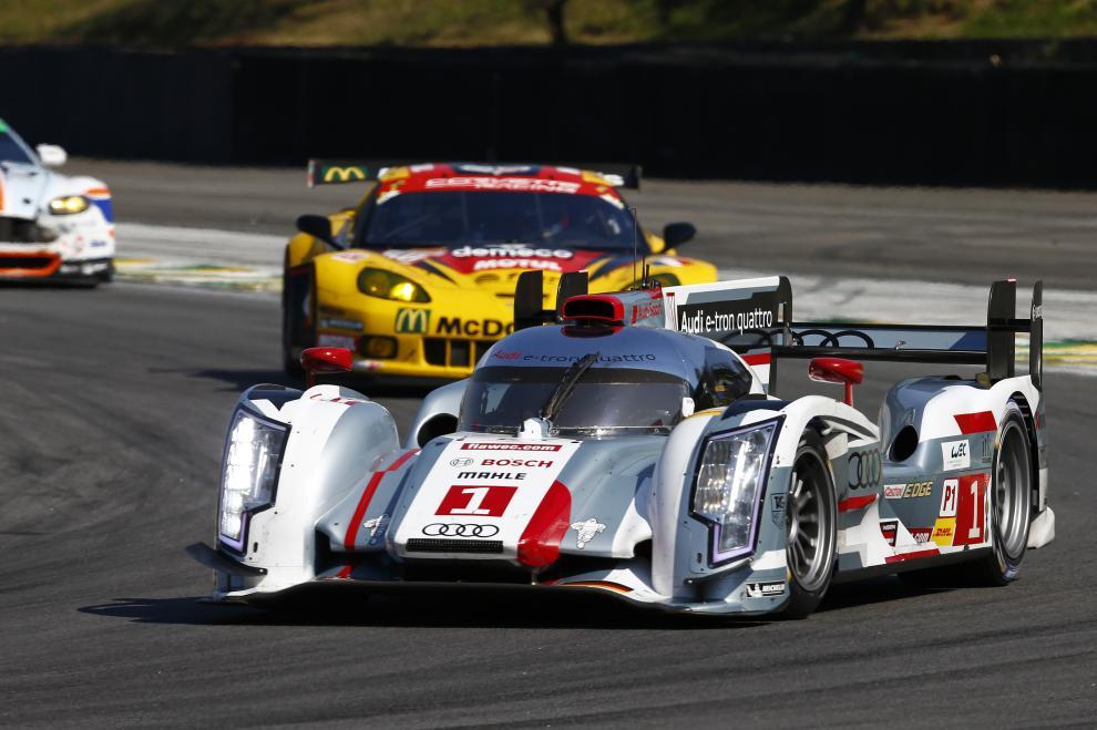 El Audi R18 e-tron quattro de los vencedores, Treluyer-Fassler-Lotterer, mantuvo el invicto de la marca...