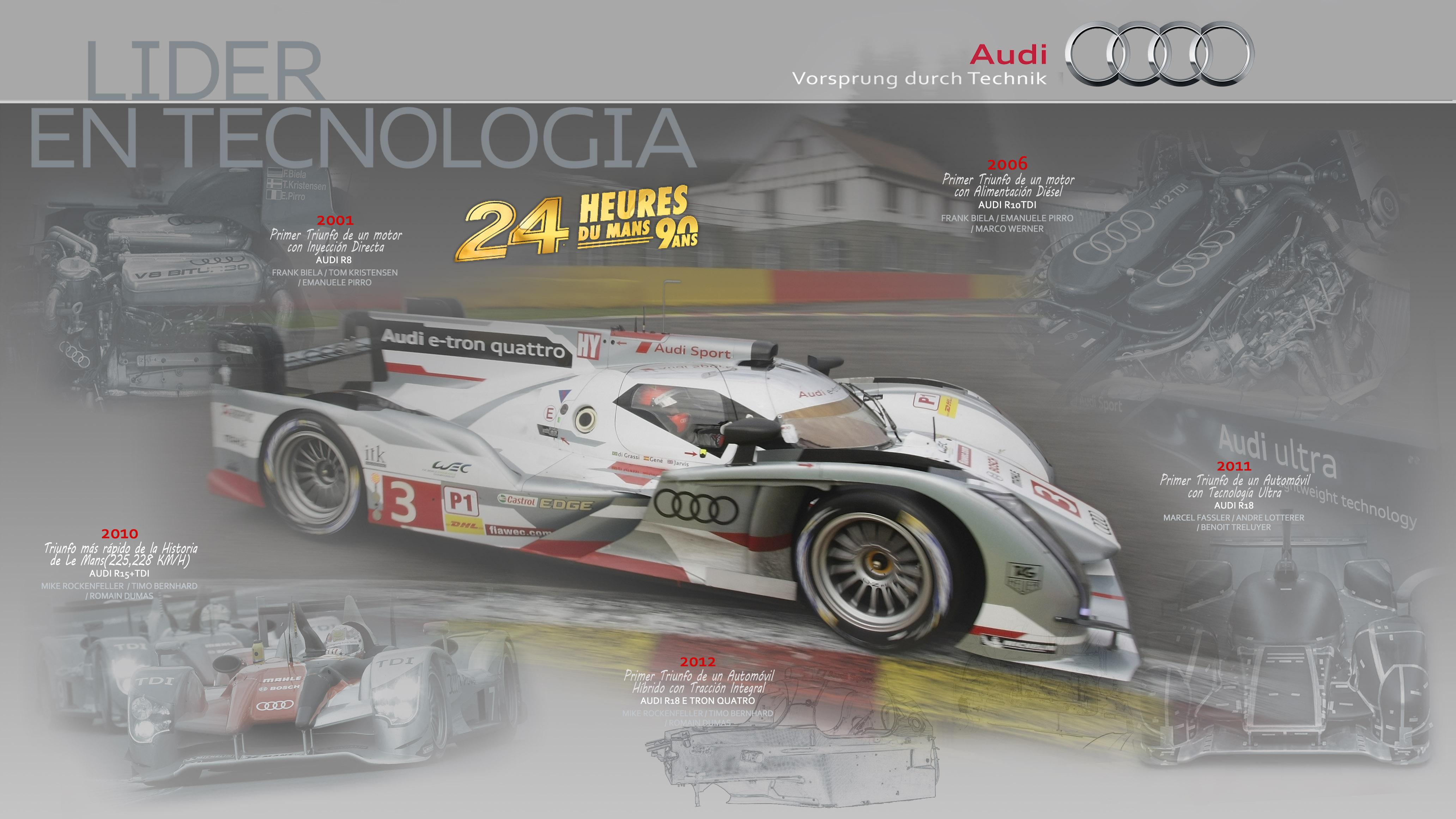 La idea de V8, magníficamente resuelta por Jorge García, fue el arte para tributar a Audi...