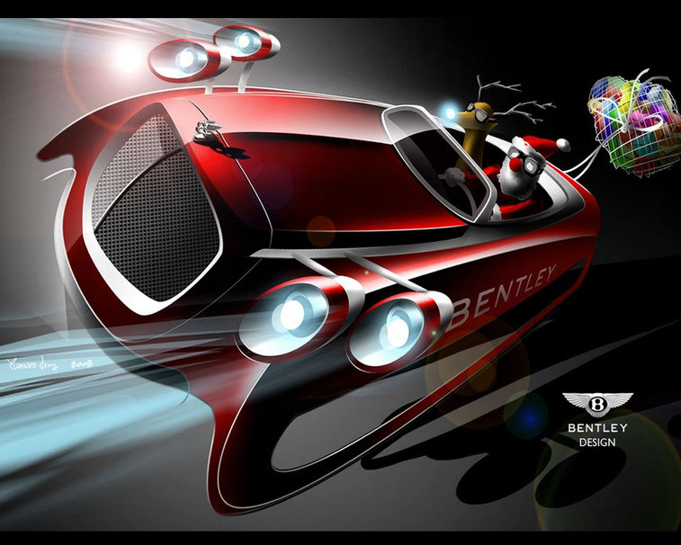 Cuando a los diseñadores de Bentley les pidieron una actualización de un trineo para Navidad, se les ocurrió esto?¡Era hora que a Papá Noël y a Rodolfo se les hiciera un poco más fácil el reparto?!