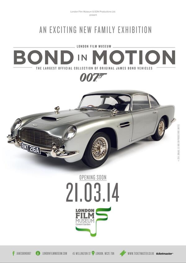 El afiche es elocuente, con el Aston Martin DB5 de Goldeneye, como figura excluyente...