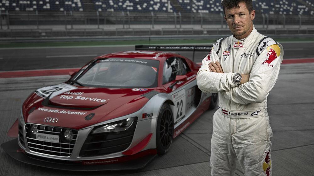 Las próximas 24 Horas de Nürburgring, tendrán a Baumgartner y su Audi R8 entre los protagonistas...