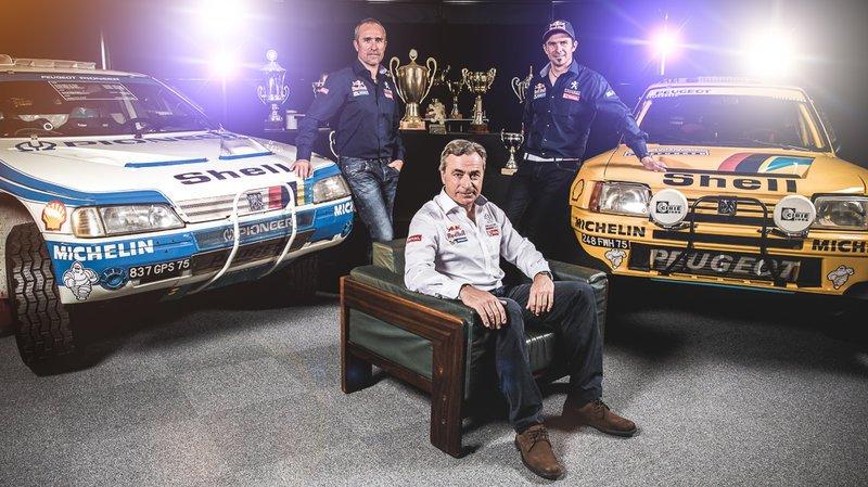 """Peterhansel, Sainz y Després intentarán sacarle """"más lustre"""" todavía a la historia de Peugeot con el Dakar..."""
