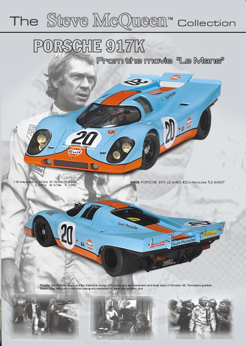"""El 917-024 tal como estaba decorado para la filmación de """"Le Mans""""..."""