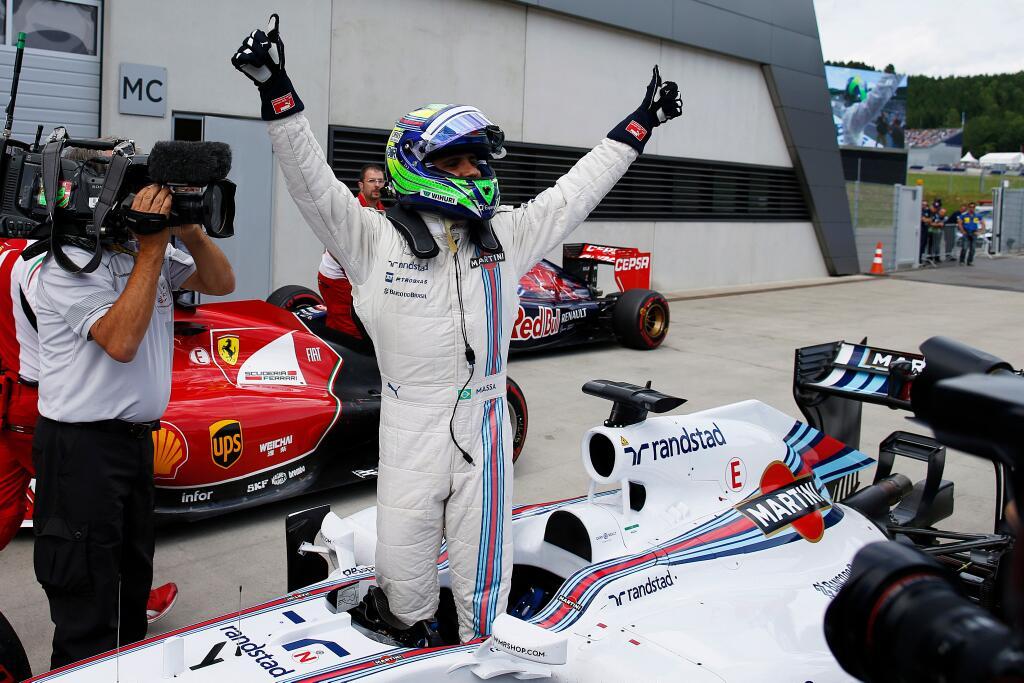 Explosión de Massa ante la confirmación de su pole, seis años tuvieron que pasar...