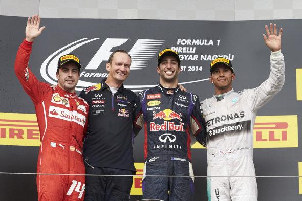 Alonso, Ricciardo, Hamilton y su protagonismo calificaron al GP de Hungría como la mejor carrera de la temporada 2014... Ahhh! y eso de que en el Hungaroring no se puede pasar a nadie, que se lo cuenten a otro!!!...