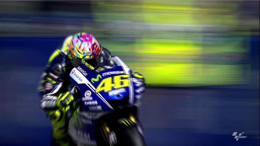 """En el circuito """"Marco Simoncelli"""" de Misano, Valentino volvió a la victoria después de más de un año y a los 35..."""