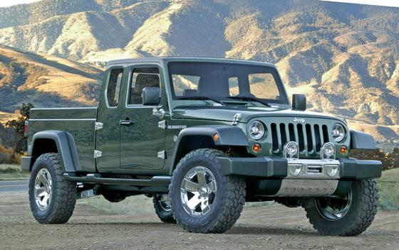 La pick up Jeep no estaría demasiado alejada de este concept...