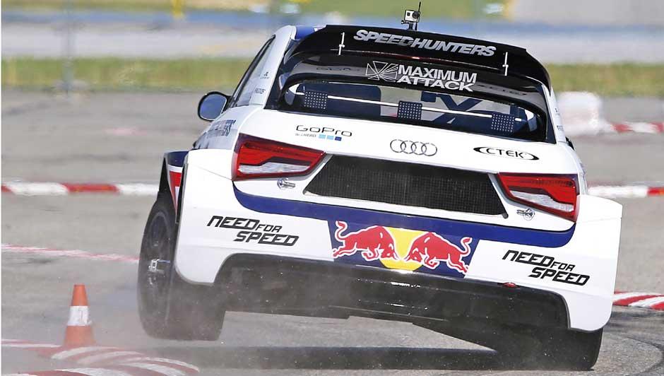 El Audi S1 quattro en apuros...