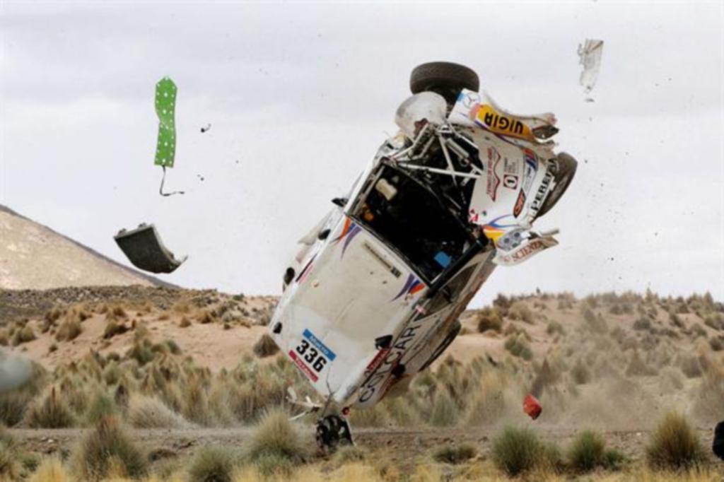 Hasta el momento del accidente, Silva-Sisterna, venían dentro del top 20 y cumpliendo destacada actuación...