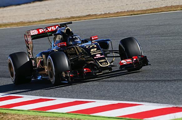 El francés Grosjean, utilizando neumáticos superblandos, fue el piloto más veloz de los tests en Barcelona. Los F1 volverán a transitar Montmeló desde el próximo jueves...