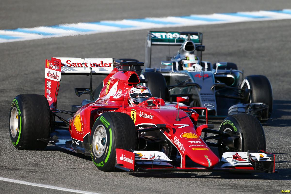 Ferrari fue la marca más veloz por partida doble, con Raikkonen y Vettel al tope en los tiempos. Pero Mercedes fue la más confiable, también por partida doble, Rosberg y Hamilton fueron los pilotos que más giraron...