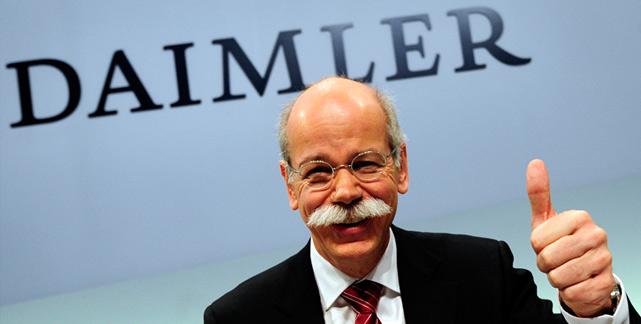 Dieter Zetsche, CEO del grupo alemán...