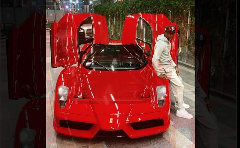 Mayweather con su Ferrari Enzo de más de u$s tres millones...
