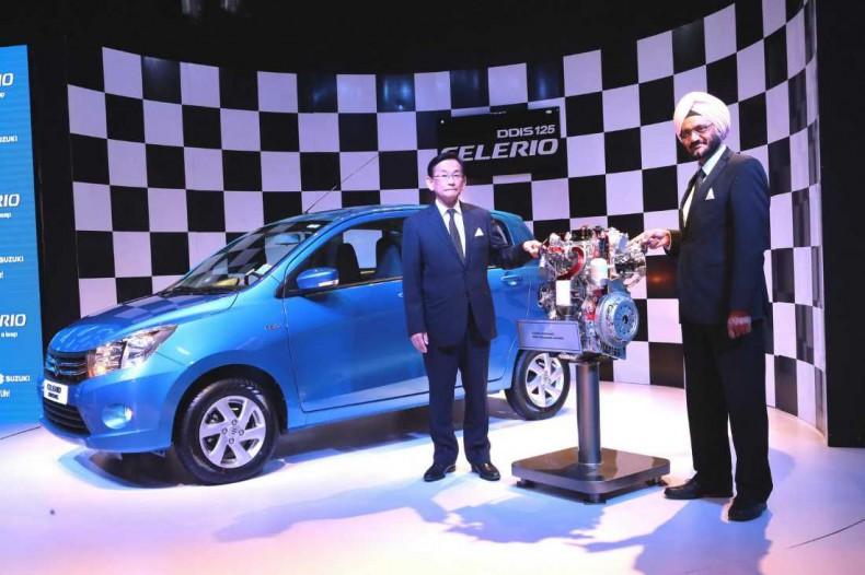 Presentación del nuevo motor Suzuki 800 diesel, destinado al Maruti Celerio que se fabrica en la India...