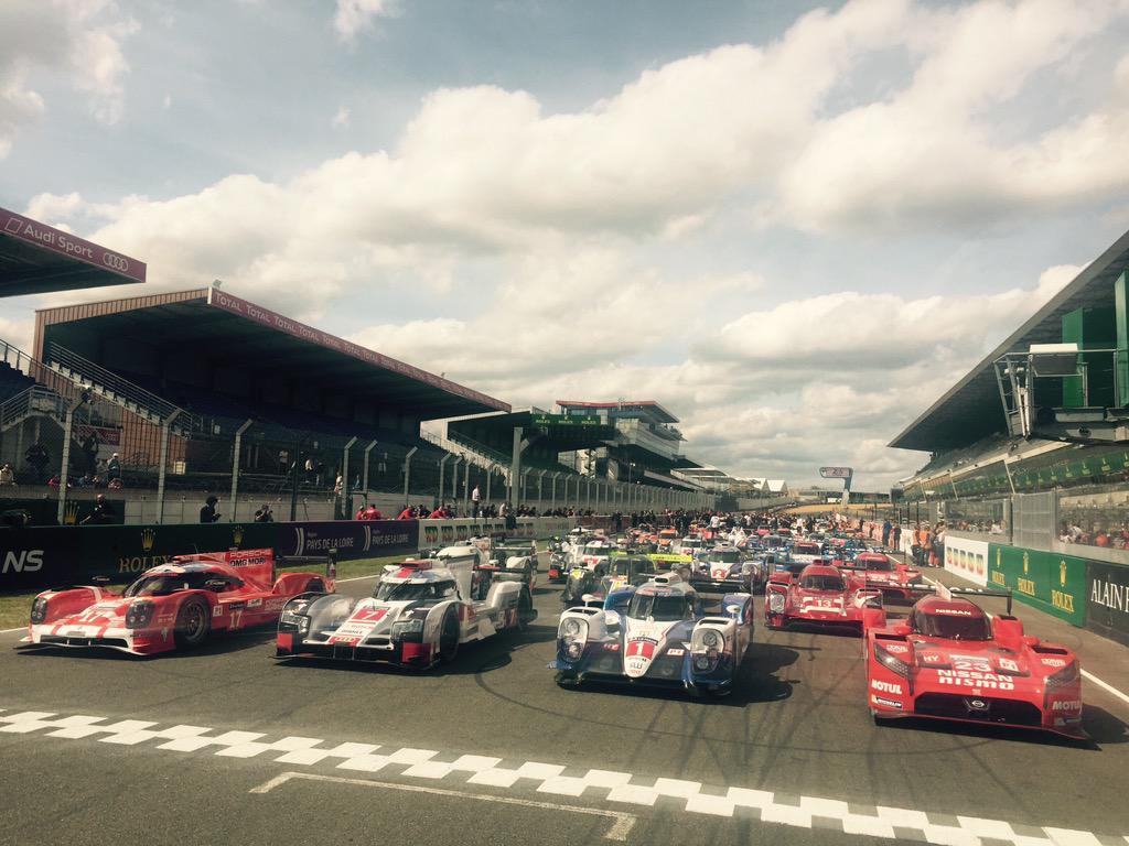 Porsche, Audi, Toyota y Nissan (de izq. a der.) irán por la victoria absoluta en Le Mans...