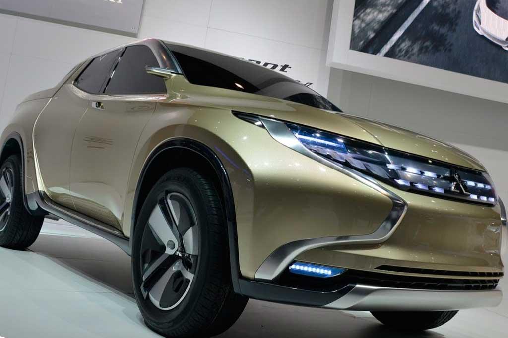 El nuevo Montero/Pajero propone rasgos similares a los de la pick up GR-HEV que se viera en Ginebra 2013...