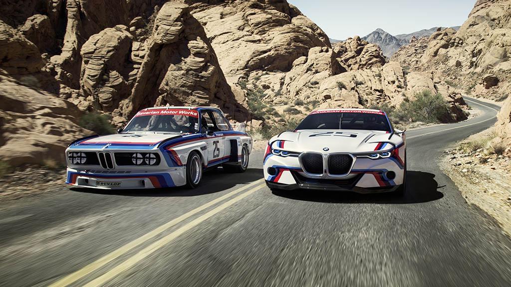 El BMW 3.0 CSL de 1975 (izq) y el 3.0 CSL Hommage R diseñado y construido para homenajearlo...