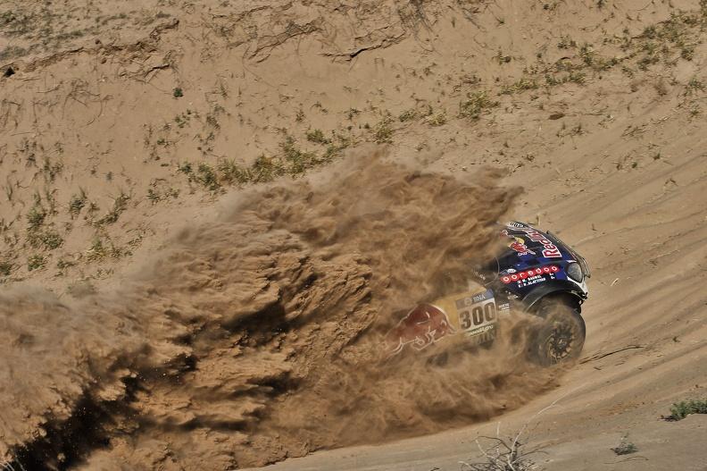 300 AL-ATTIYAH Nasser (qat) BAUMEL Matthieu (fra) MINI action during the Dakar 2016 Argentina,  Bolivia, Etape 9 / Stage 9, Belen - Belen,  from  January 12, 2016 - Photo DPPI