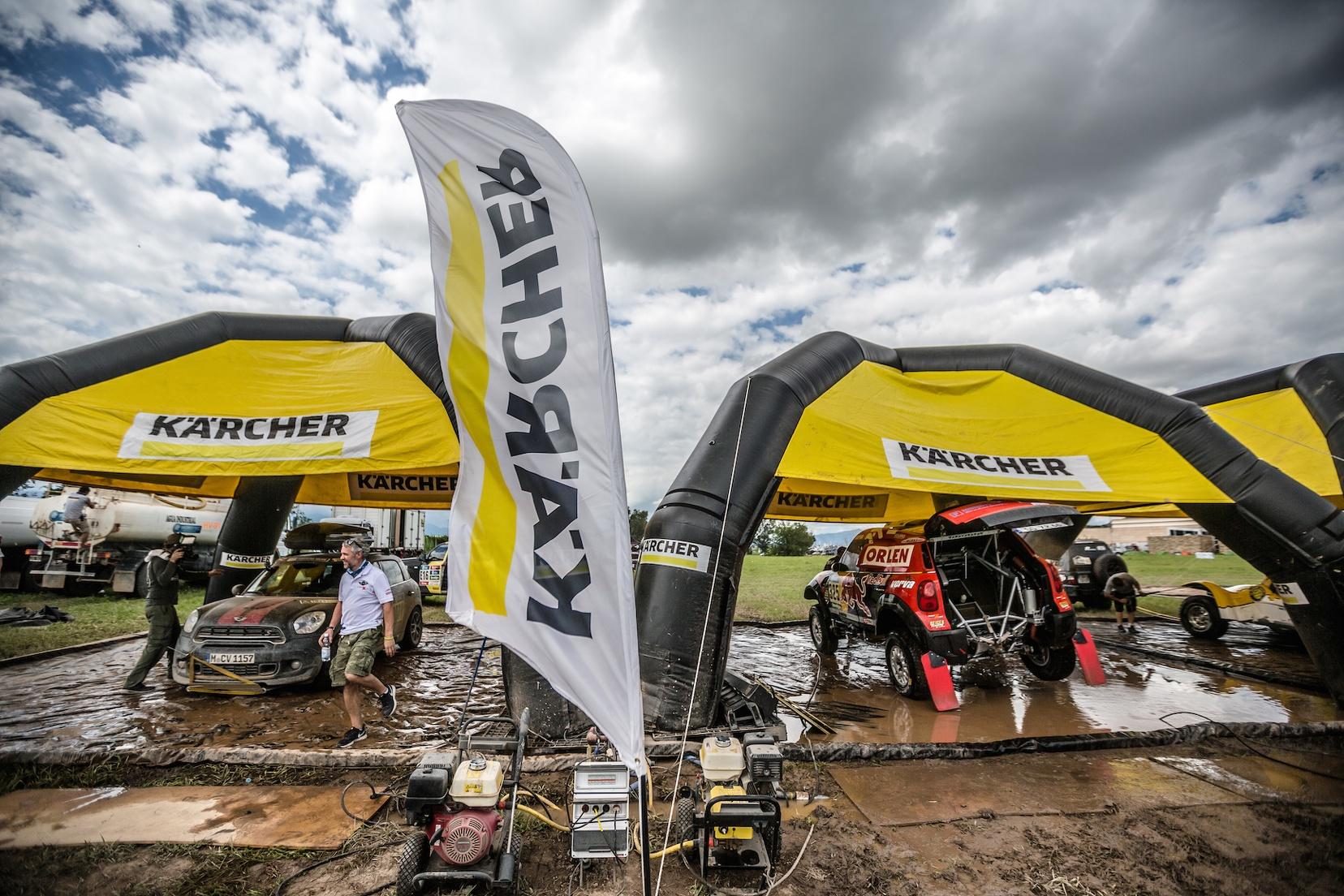 Kärcher Rallye Dakar Reinigungsstation 1