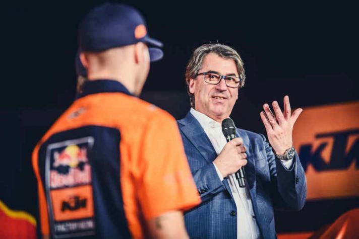Pierer, CEO de KTM y autor de polémicas declaraciones...