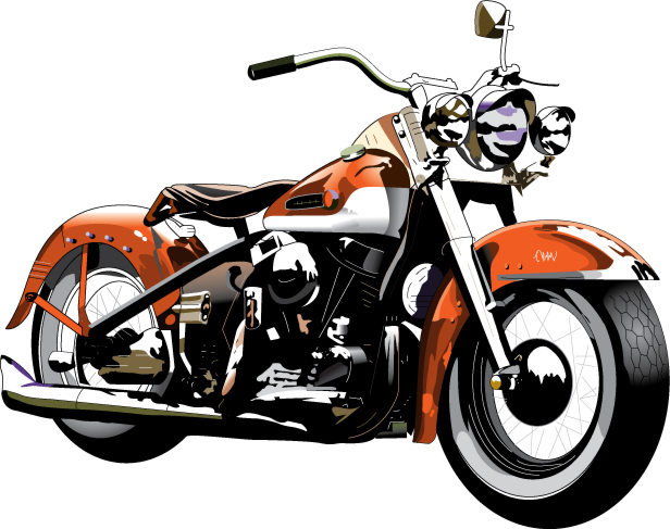 free-harley-davidson-motorcycle-clipart
