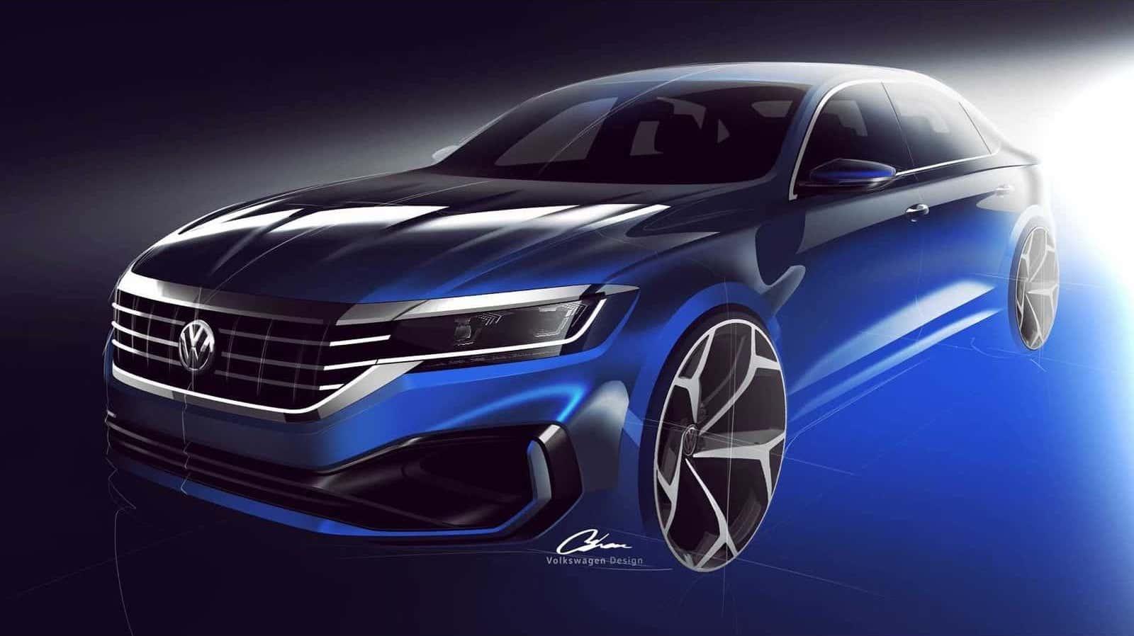 VW-Passat-2020-Sketch